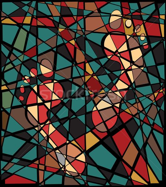след мозаика вектора иллюстрация красочный Сток-фото © Tawng