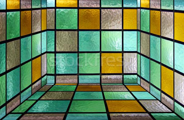 Vetro finestra piazza decorativo vetrate Foto d'archivio © Tawng