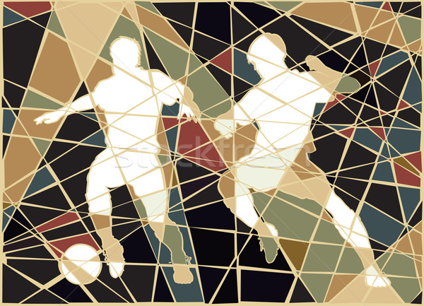Soccer stars mosaic Stock photo © Tawng