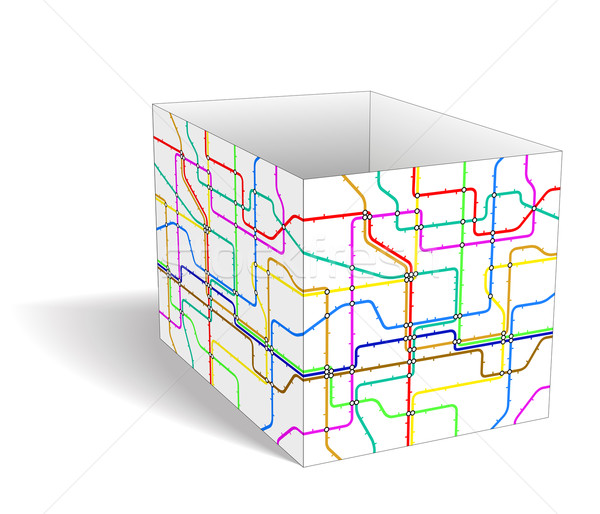 Tube cube Stock photo © Tawng
