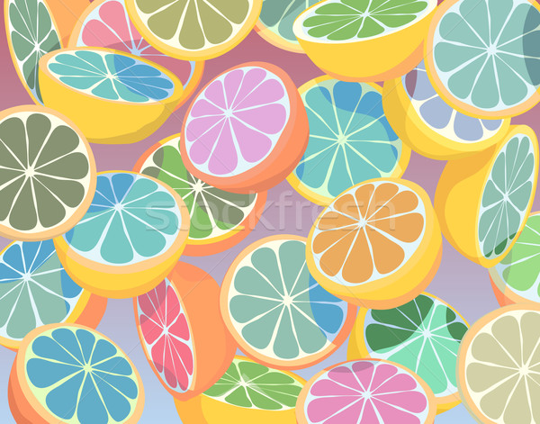 Colorful citrus fruit Stock photo © Tawng