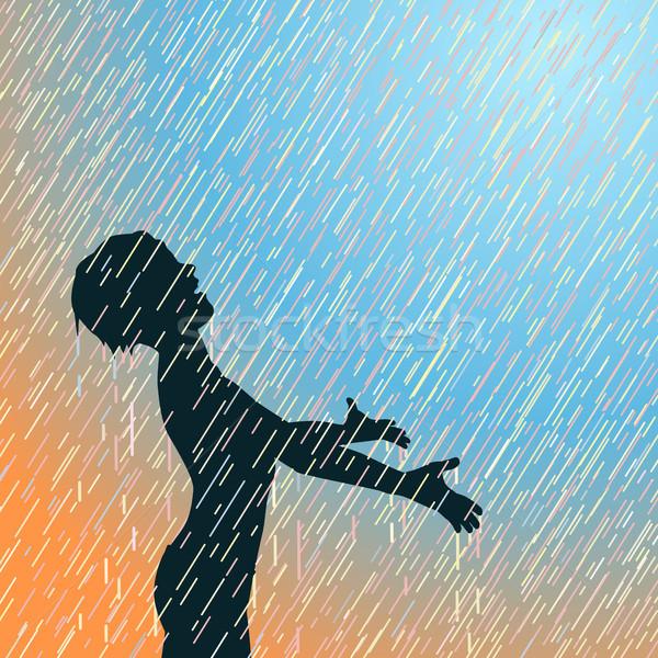 Happy rain Stock photo © Tawng