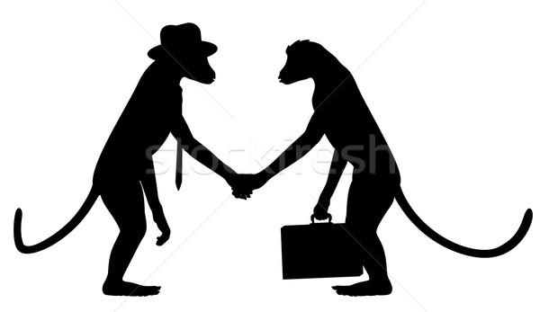 обезьяны бизнеса вектора два Сток-фото © Tawng