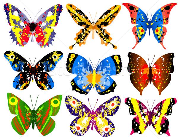 Сток-фото: красочный · бабочки · вектора · общий