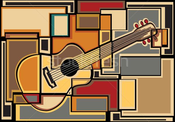 Gitaar mozaiek eps8 vector kleurrijk Stockfoto © Tawng