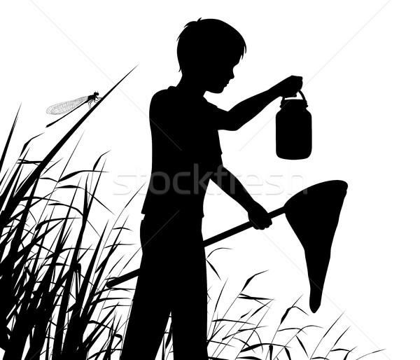 Stock photo: Young naturalist