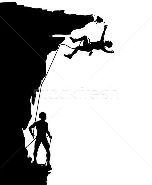 Climber fall Stock photo © Tawng