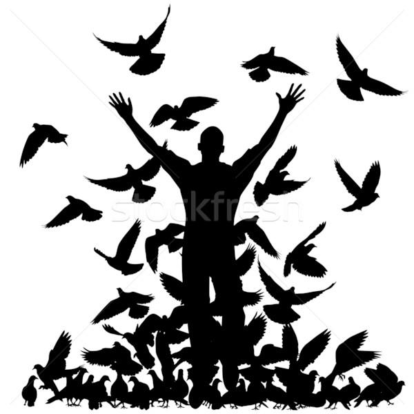 Pigeon man Stock photo © Tawng