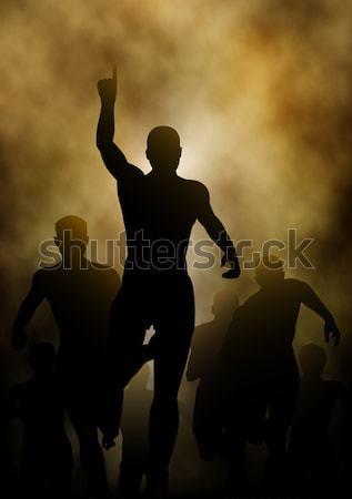 Stok fotoğraf: Kazanan · düzenlenebilir · adam · kazanan · yarış