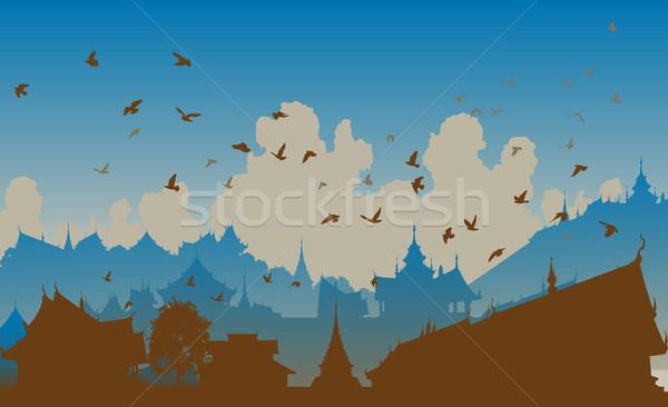 Eastern bird city Stock photo © Tawng