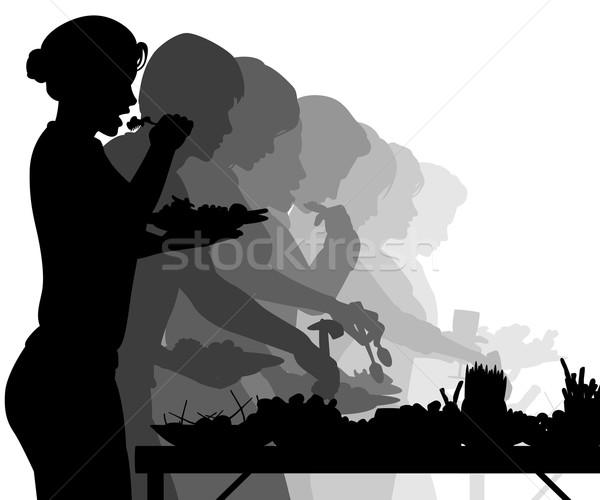 буфет таблице eps8 вектора Сток-фото © Tawng