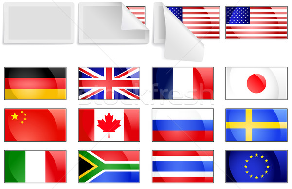 Stock photo: International transfer flags