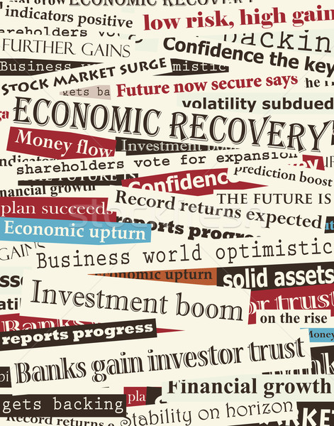 Financial recovery headlines Stock photo © Tawng