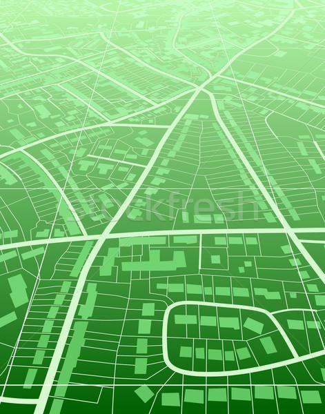 Zöld város szerkeszthető általános utcatérkép út Stock fotó © Tawng