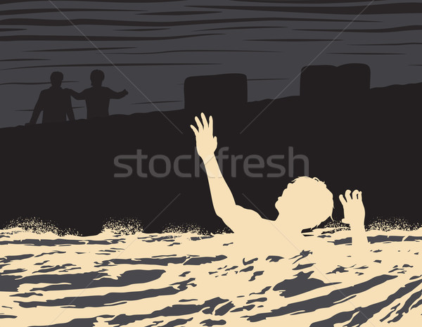 Drowning man Stock photo © Tawng