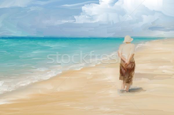 Beachcombing Stock photo © Tawng