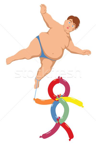 Léggömb fiú eps8 szerkeszthető elhízott lebeg Stock fotó © Tawng