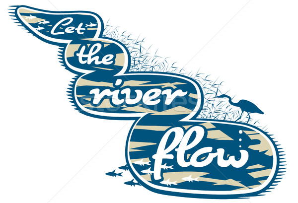 Let the river flow Stock photo © Tawng