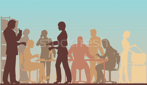 Stock photo: Working office