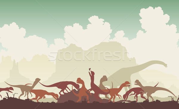 Dinosaur feast Stock photo © Tawng