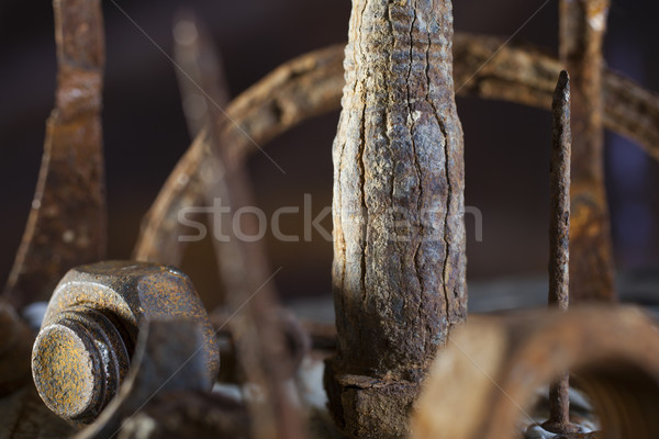 Scrap metal forest Stock photo © Tawng