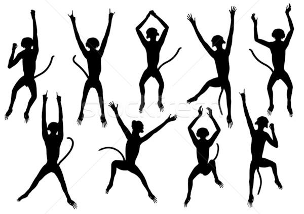 Jumping monkeys Stock photo © Tawng