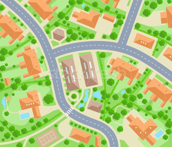 Sąsiedztwo wektora Pokaż mieszkaniowy Zdjęcia stock © Tawng