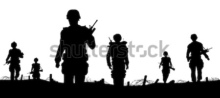 Combat troops Stock photo © Tawng
