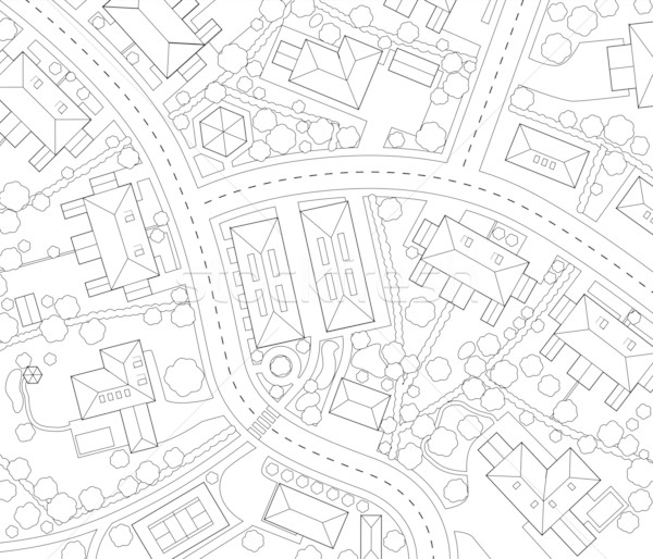 Neighborhood outline Stock photo © Tawng