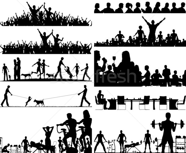 People foregrounds Stock photo © Tawng