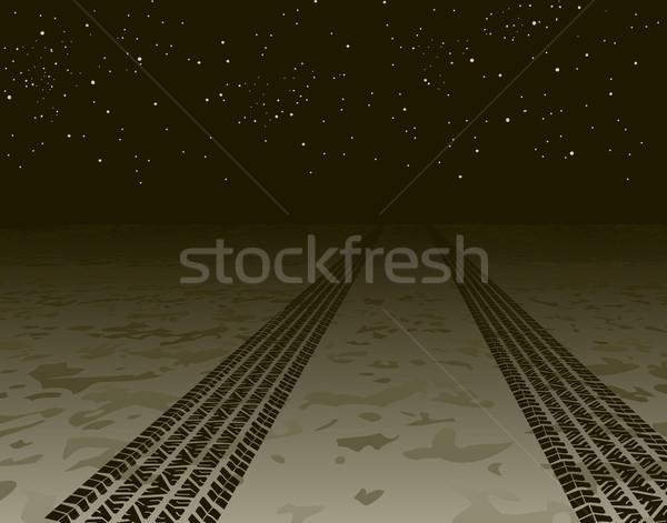 Tire tracks Stock photo © Tawng