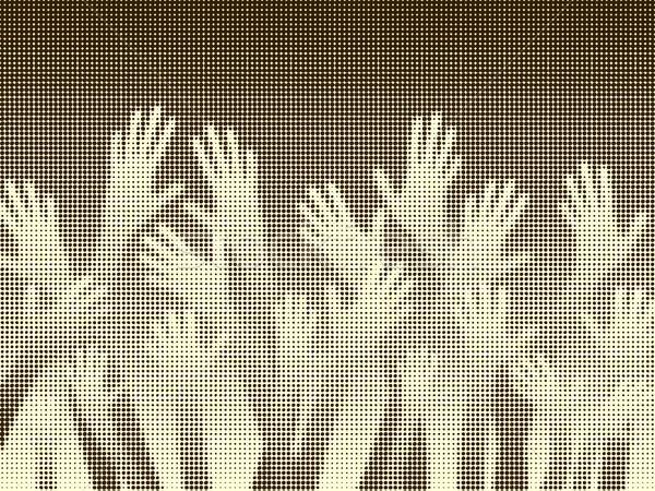 Halftone hands Stock photo © Tawng