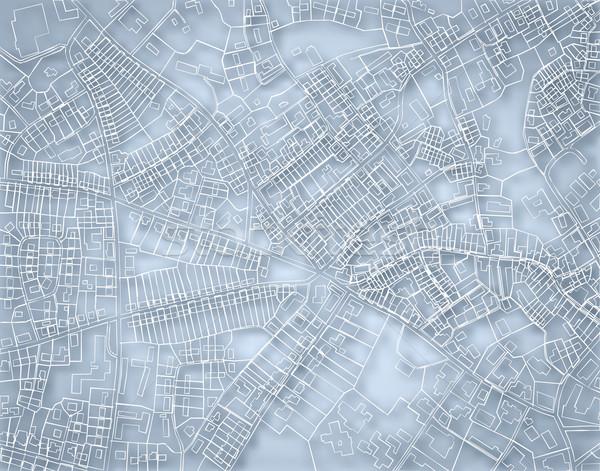 Durva kék térkép szerkeszthető vektor terv Stock fotó © Tawng