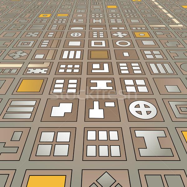 Angled grid city Stock photo © Tawng