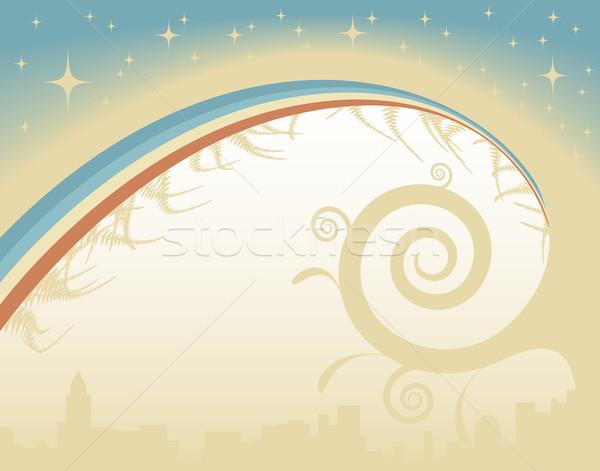 Résumé vecteur étoiles Rainbow ciel Photo stock © Tawng