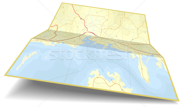 Map folding Stock photo © Tawng