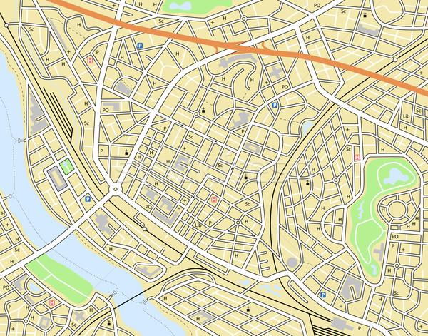 Város térkép szerkeszthető vektor általános nem Stock fotó © Tawng