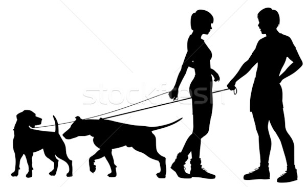 Dog people chat up Stock photo © Tawng