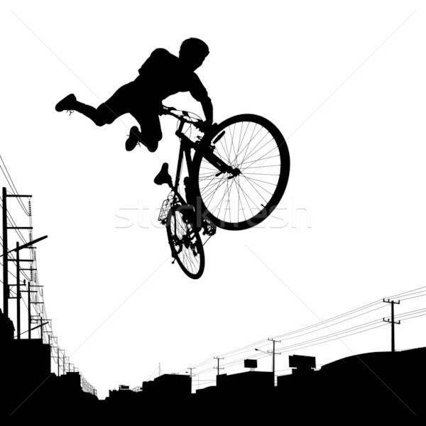 子供 少年 ジャンプ 自転車 子 ストックフォト © Tawng