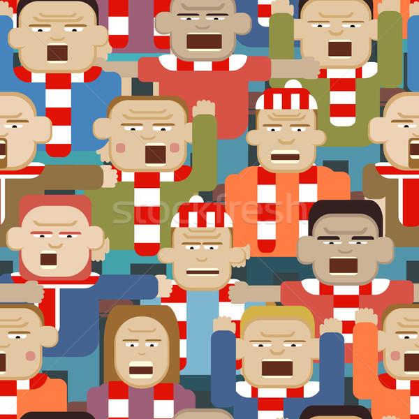 Sportok tömeg végtelenített csempe vektor illusztráció Stock fotó © Tawng