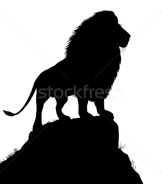 Majestic lion Stock photo © Tawng