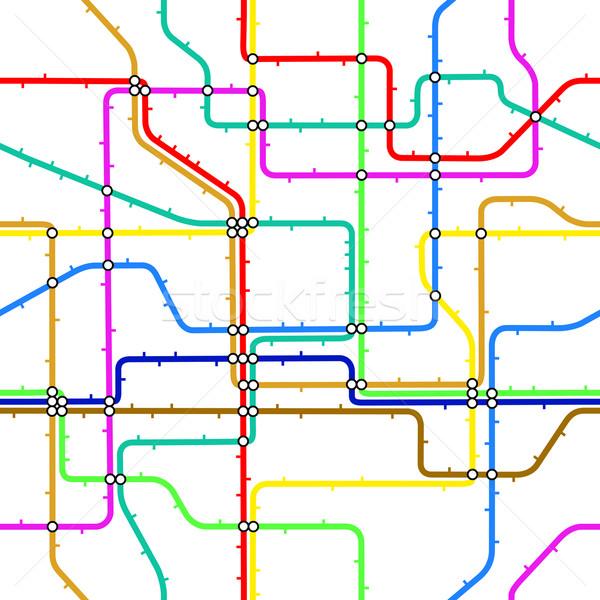 Stock photo: Subway tile