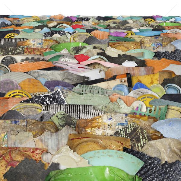 Mar residuos plástico fondo Foto stock © Tawng