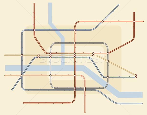 Underground map Stock photo © Tawng