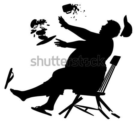 Varanda onda silhueta vetor mulher Foto stock © Tawng