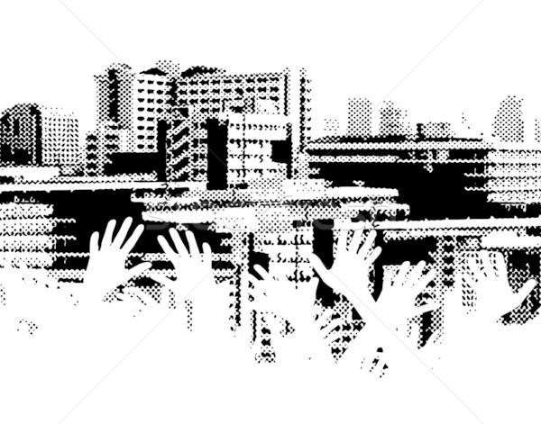 Város rándulás vektor halftone terv városkép Stock fotó © Tawng