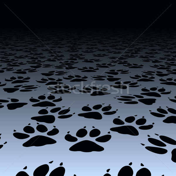 Dog prints Stock photo © Tawng