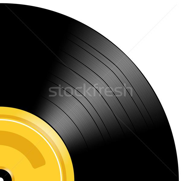 Lemez szerkeszthető bakelit gradiens háló fekete Stock fotó © Tawng