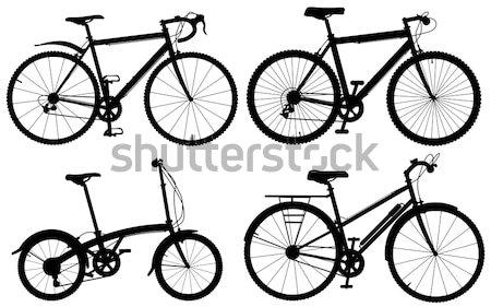 Biciklik szett részletes szerkeszthető vektor általános Stock fotó © Tawng