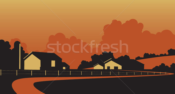 Country farmstead Stock photo © Tawng